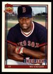 1991 Topps Traded #123 T Mo Vaughn  Front Thumbnail