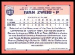 1991 Topps Traded #131 T  -  Ivan Zweig Team USA Back Thumbnail