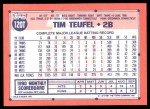 1991 Topps Traded #120 T Tim Teufel  Back Thumbnail