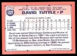1991 Topps Traded #122 T  -  David Tuttle Team USA Back Thumbnail