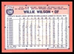 1991 Topps Traded #129 T Willie Wilson  Back Thumbnail