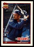 1991 Topps Traded #126 T Mark Whiten  Front Thumbnail