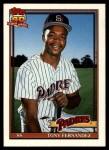 1991 Topps Traded #41 T Tony Fernandez  Front Thumbnail