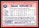 1991 Topps Traded #117 T Wade Taylor  Back Thumbnail