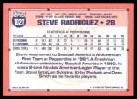 1991 Topps Traded #102 T  -  Steve Rodriguez Team USA Back Thumbnail