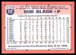 1991 Topps Traded #11 T Bud Black  Back Thumbnail