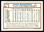 1992 Topps Traded #127 T Dan Walters  Back Thumbnail