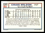 1992 Topps Traded #128 T  -  Craig Wilson Team USA Back Thumbnail