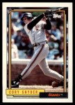 1992 Topps Traded #107 T Cory Snyder  Front Thumbnail