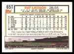 1992 Topps Traded #65 T Pat Listach  Back Thumbnail