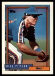 1992 Topps Traded #86 T Bill Pecota  Front Thumbnail