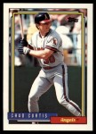 1992 Topps Traded #25 T Chad Curtis  Front Thumbnail