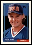 1992 Topps Traded #40 T  -  Jason Giambi Team USA Front Thumbnail