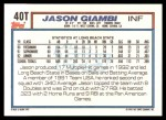 1992 Topps Traded #40 T  -  Jason Giambi Team USA Back Thumbnail