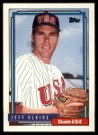1992 Topps Traded #2 T  -  Jeff Alkire Team USA Front Thumbnail
