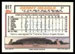 1992 Topps Traded #81 T Denny Neagle  Back Thumbnail