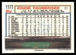 1992 Topps Traded #117 T Eddie Taubensee  Back Thumbnail