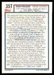 1992 Topps Traded #35 T  -  Ron Fraser Team USA Back Thumbnail