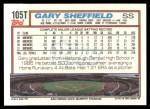 1992 Topps Traded #105 T Gary Sheffield  Back Thumbnail