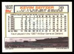 1992 Topps Traded #103 T Kevin Seitzer  Back Thumbnail