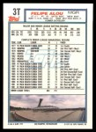 1992 Topps Traded #3 T Felipe Alou  Back Thumbnail