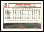 1992 Topps Traded #32 T John Flaherty  Back Thumbnail