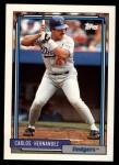 1992 Topps Traded #50 T Carlos Hernandez  Front Thumbnail