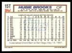 1992 Topps Traded #15 T Hubie Brooks  Back Thumbnail