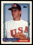 1992 Topps Traded #126 T  -  B.J.Wallace Team USA Front Thumbnail