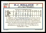 1992 Topps Traded #126 T  -  B.J.Wallace Team USA Back Thumbnail