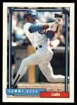 1992 Topps Traded #109 T Sammy Sosa Cubs  Front Thumbnail