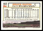 1992 Topps Traded #95 T Bruce Ruffin  Back Thumbnail