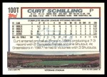 1992 Topps Traded #100 T Curt Schilling  Back Thumbnail