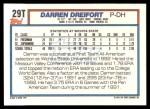 1992 Topps Traded #29 T  -  Darren Dreifort Team USA Back Thumbnail