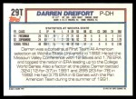 1992 Topps Traded #29 T  -  Darren Dreifort Team USA Back Thumbnail