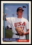 1992 Topps Traded #29 T  -  Darren Dreifort Team USA Front Thumbnail