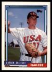 1992 Topps Traded #29 T  -  Darren Dreifort Team USA Front Thumbnail