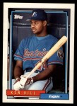 1992 Topps Traded #51 T Ken Hill  Front Thumbnail