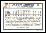 1992 Topps Traded #123 T  -  Jason Varitek Team USA Back Thumbnail