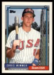1992 Topps Traded #129 T  -  Chris Wimmer Team USA Front Thumbnail