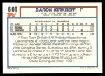 1992 Topps Traded #60 T  -  Daron Kirkreit Team USA Back Thumbnail