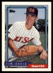 1992 Topps Traded #27 T  -  Tim Davis Team USA Front Thumbnail