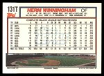 1992 Topps Traded #131 T Herm Winningham  Back Thumbnail