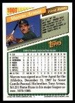 1993 Topps Traded #100 T Markos Armas  Back Thumbnail