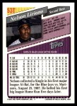 1993 Topps Traded #53 T Nelson Liriano  Back Thumbnail