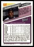 1993 Topps Traded #53 T Nelson Liriano  Back Thumbnail