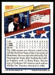 1993 Topps Traded #101 T  -  Darren Grass Team USA Back Thumbnail
