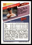 1993 Topps Traded #78 T Jon Shave  Back Thumbnail