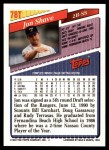 1993 Topps Traded #78 T Jon Shave  Back Thumbnail