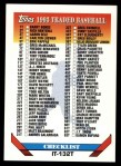 1993 Topps Traded #132 T  Checklist 1-132 Front Thumbnail
